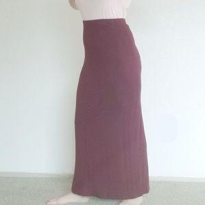 GAP Maroon Maxi Skirt Women's Medium